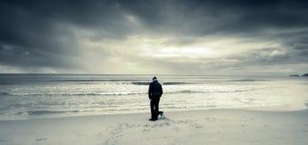 bijou odkrywa morze Fotografia Royalty Free
