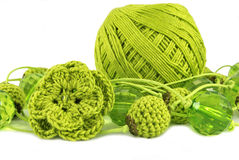 Bijou olive de crochet photographie stock