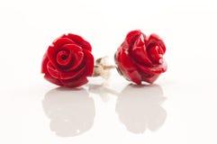 Bijou rose de rouge Photos stock