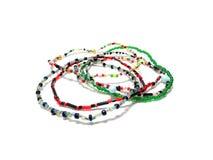 Bijouterie, accesorios del ` s de las mujeres, joyería En un fondo blanco Imagen de archivo libre de regalías