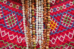 Bijouterie and a beads on the market Stock Photo