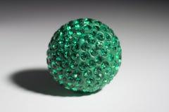 Bijouterie Green. Bijouterie pendant ornament ball Emerald Royalty Free Stock Image