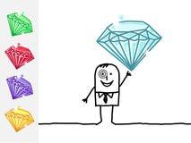 Bijoutier et pierres précieuses illustration libre de droits