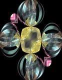 bijoux 3d se reflétants Photographie stock libre de droits
