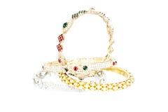 Bijoux d'or de bracelet Images libres de droits
