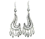 Bijoux de boucles d'oreille avec les cristaux lumineux Images stock