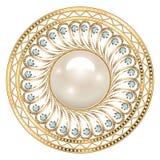 Bijoux de broche, élément de conception Ornam géométrique de vintage Photos stock