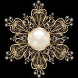 Bijoux de broche, élément de conception Ornam géométrique de vintage Images libres de droits