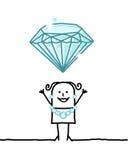 Bijoux de femme et de diamants illustration stock