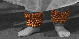 Bijoux de Ghungroo- A de danseur classique Image libre de droits