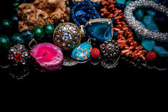 Bijoux de luxe de pierre gemme Photographie stock