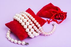 Bijoux de perle pour des femmes Photographie stock libre de droits