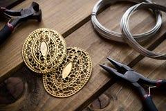 Bijoux faits main, approvisionnements de bijoux Photo stock