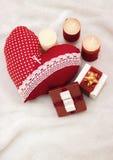 Bijoux faits main le jour du ` s de Valentine photographie stock