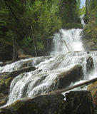 Bijoux Falls. This waterfall is in Northern British Columbia royalty free stock images