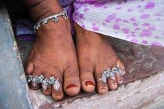 Bijoux indiens les pieds Image libre de droits