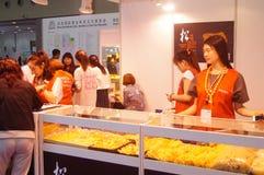 Bijoux internationaux d'or de Shenzhen justes Images stock