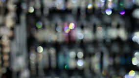 Bijoux lumineux Defocused banque de vidéos