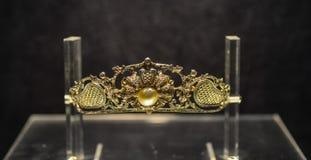 Bijoux précieux pour l'affichage au musée Photographie stock