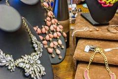Bijoux sur l'affichage Photographie stock