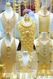 Bijoux traditionnels indiens pakistanais Arabes d'or Image stock