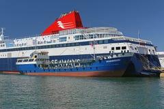 Bijtankende Veerboot Stock Foto's