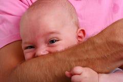 Bijtende baby Royalty-vrije Stock Afbeeldingen
