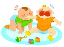 Bijtende baby Stock Foto