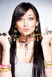 Biju fashion accessories stock image