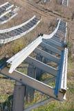 Bijzonder van een metaalprofielen voor photovoltaic panelen royalty-vrije stock afbeelding