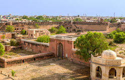 Bikaner Fort. Imposing palace of the Maharajah of Bikaner inside Junagarh Fort, Bikaner, Rajasthan, India Royalty Free Stock Images