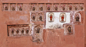 Bikaner hand prints Royalty Free Stock Image