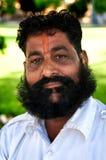 BIKANER INDIA, MARZEC, - 09, 2013: Portreta od niezdefiniowany mężczyzna z wąsem projektującym jako maharaja Zdjęcia Royalty Free