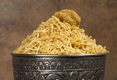 Bikaner Namkeen. Famous Namkeen of Bikaner City of Rajasthan State, use of namkeen with lunch and dinner royalty free stock image