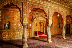 Bikaner temple interior Royalty Free Stock Photo