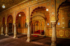 Bikaner temple interior Stock Photography