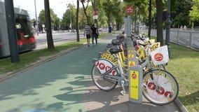 Bike в Вена сток-видео