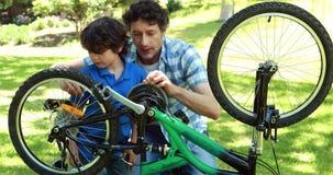 Bike отладки отца и сынка акции видеоматериалы
