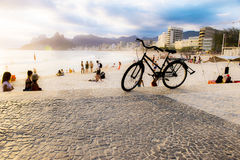 bike пляжа Стоковые Изображения RF