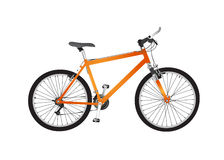 гора изолированная bike Стоковые Фотографии RF