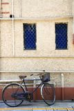 Bike. A bike lean on an old wall Royalty Free Stock Photography