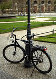 Bike. affixed to a metal post Royalty Free Stock Image