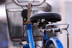 Bike. Rusty iron bike in the road (bicycle Stock Photography