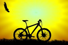 Bike. Bicycle standing in the middle of nowhere Royalty Free Stock Photo