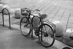 Bike. On the street in Milan - Italy Royalty Free Stock Image