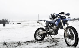 Bike. Motocross race bike in winter stock photography