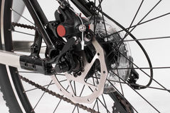 Bike. A black bike on a white background Stock Photos
