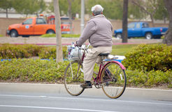 Bike. Man on bike Stock Images