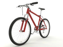 Bike. Isolated sport red bike on the white background Stock Photo