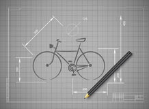 Bike Abstract Vector illustration mask bicycle Royalty Free Stock Photos
